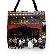 Kwan Im Tong Hood Cho Buddhist Temple In The Bugis Area In Singa Tote Bag