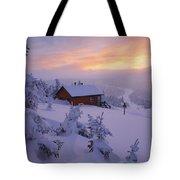 La Chouette Cabin At Twilight, Gaspesie Tote Bag