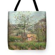 La Maison Rose Tote Bag by Camille Pissarro