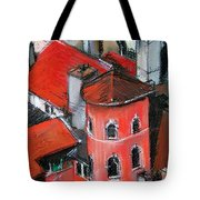 La Tour Rose In Lyon 2 Tote Bag