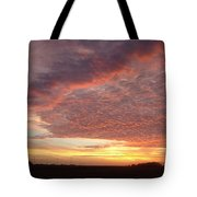 Lacy Pink Sunset Tote Bag