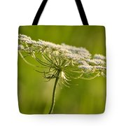 Lacy White Flower Tote Bag