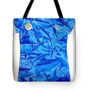 Ladies Gamefish Collage Shirt Tote Bag