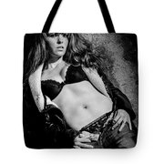 Lady At The Wall Tote Bag
