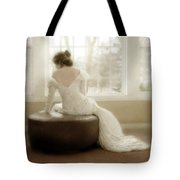 Lady In Sequin Gown Tote Bag