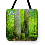 Lady In The Woods Tote Bag