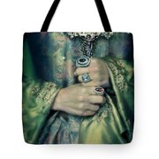 Lady In Tudor Gown With Crucifix Tote Bag