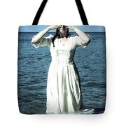 Lady In Water Tote Bag
