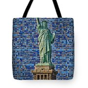 Lady Liberty Mosaic Tote Bag
