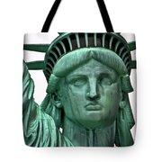Lady Liberty Up Close Tote Bag