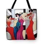 Lady Musicians Tote Bag