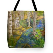 Lady Of The White Birch Tote Bag