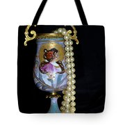 Lady Vase And Pearls Tote Bag