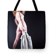 Lady With A Coat Tote Bag