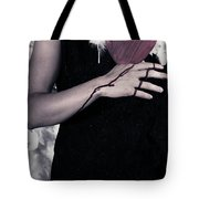 Lady With Blood And Heart Tote Bag by Joana Kruse