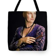Lady With Recorder Tote Bag