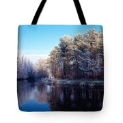 Lagan Meadows During Winter, Belfast Tote Bag