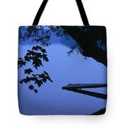 Lake And Trees At Dusk Tote Bag