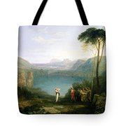 Lake Avernus - Aeneas And The Cumaean Sibyl Tote Bag