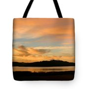 Lake Casitas Sunrise Tote Bag