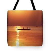 Lake Chilka At Sunrise Tote Bag