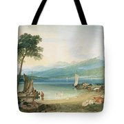 Lake Geneva And Mont Blanc Tote Bag by Joseph Mallord William Turner
