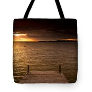 Lake Huron Dock Tote Bag