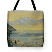 Lake Leman With The Dents Du Midi In The Distance Tote Bag