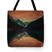 Lake Louise Abstract Tote Bag