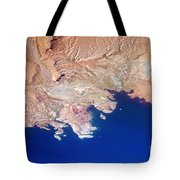 Lake Mead Shores Nv Planet Earth Tote Bag