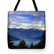 Lake Of Como View Tote Bag