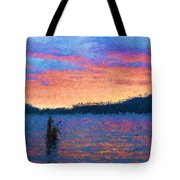 Lake Quinault Sunset - Impressionism Tote Bag
