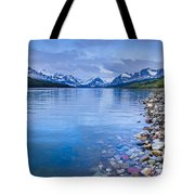 Lake Sherburne Shoreline Tote Bag