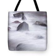Lake Superior Rocks Waves 1 B Tote Bag