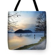 Lake With Ice Tote Bag