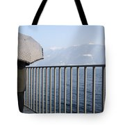 Lakefront With A Umbrella Tote Bag