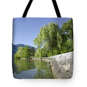 Lakefront With Trees Tote Bag