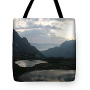 Lakes In Dolomiti Tote Bag