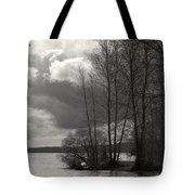 Lakeside Storm Passing Tote Bag