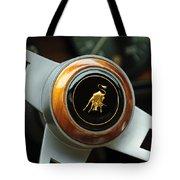 Lamborghini Steering Wheel Emblem Tote Bag