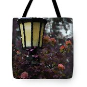 Lamp And Roses Tote Bag