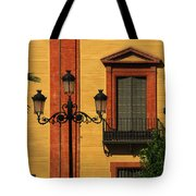 Lamp And Window In Sevilla Spain Tote Bag