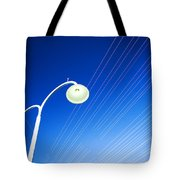 Lamp Post And Cables Tote Bag