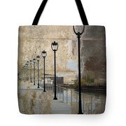 Lamp Posts And Concrete Tote Bag