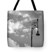 Lampost And Clouds In Wroclaw Poland Tote Bag