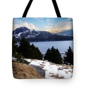 Land With A View Painterly Tote Bag