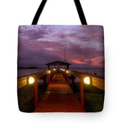 Landing Lights Tote Bag