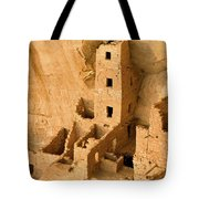 Landscape View Of Square Tower Tote Bag