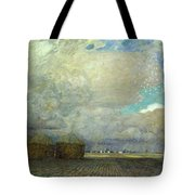 Landscape With Huts Tote Bag by Leopold Karl Walter von Kalckreuth