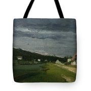 Landscape With Stormy Sky Tote Bag